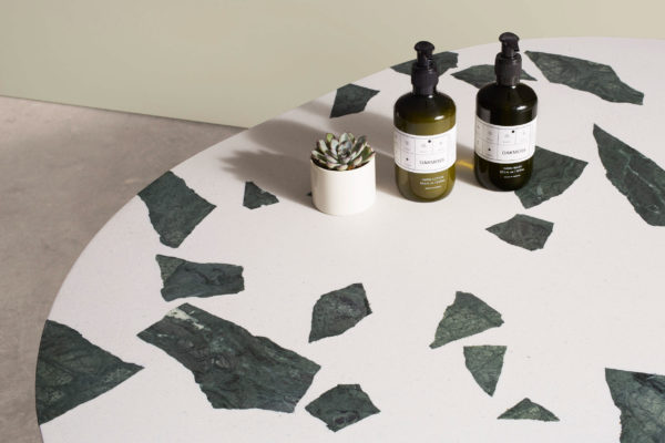 A reclaimed contemporary take on terrazzo